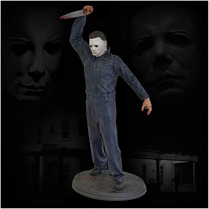 Halloween Michael Myers Glass Coaster 4 piece Set Laser Engraved with Stand
