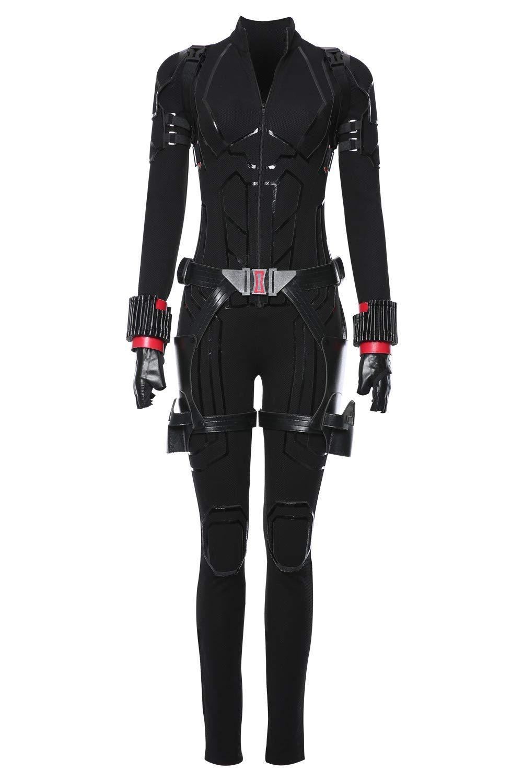 Schwarz L MingoTor Avengers 4   Endgame schwarz Widow Outfit Cosplay Kostüm Damen L