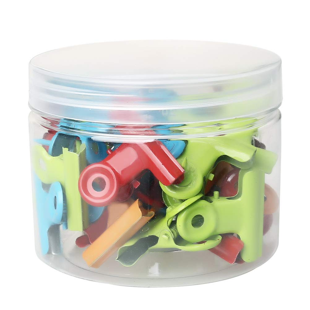 Bulletin Boards and Cubicle Walls for Office School Home and No Holes for The Paper SUMAJU 28 Pack Push Pins Clips Heavy Duty Clips with Pins for Cork Boards