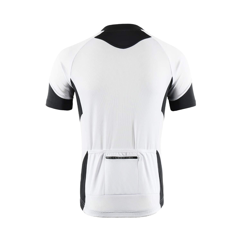 BERGRISAR Mens Basic Cycling Jerseys Short Sleeves Bike Bicycle Shirt Zipper Pockets