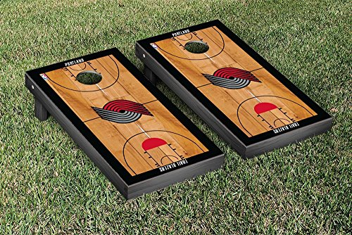 Portland Blazers Trailblazers NBA Basketball Regulation Cornhole Game Set Basketball Court Version by Victory Tailgate