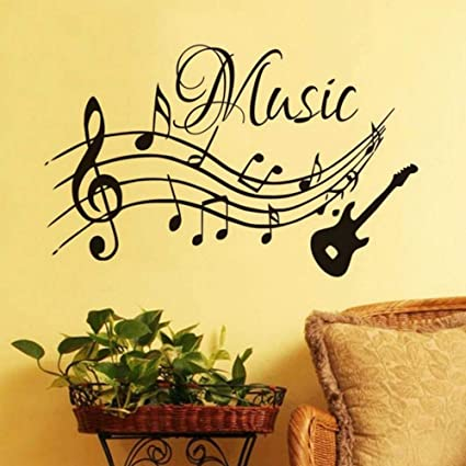 Amazon Com Rtfc 59x37cm Musical Notes Music Wall Stickers For
