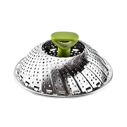 Amazon.com: Naisicore - Cesta de vapor plegable de acero ...
