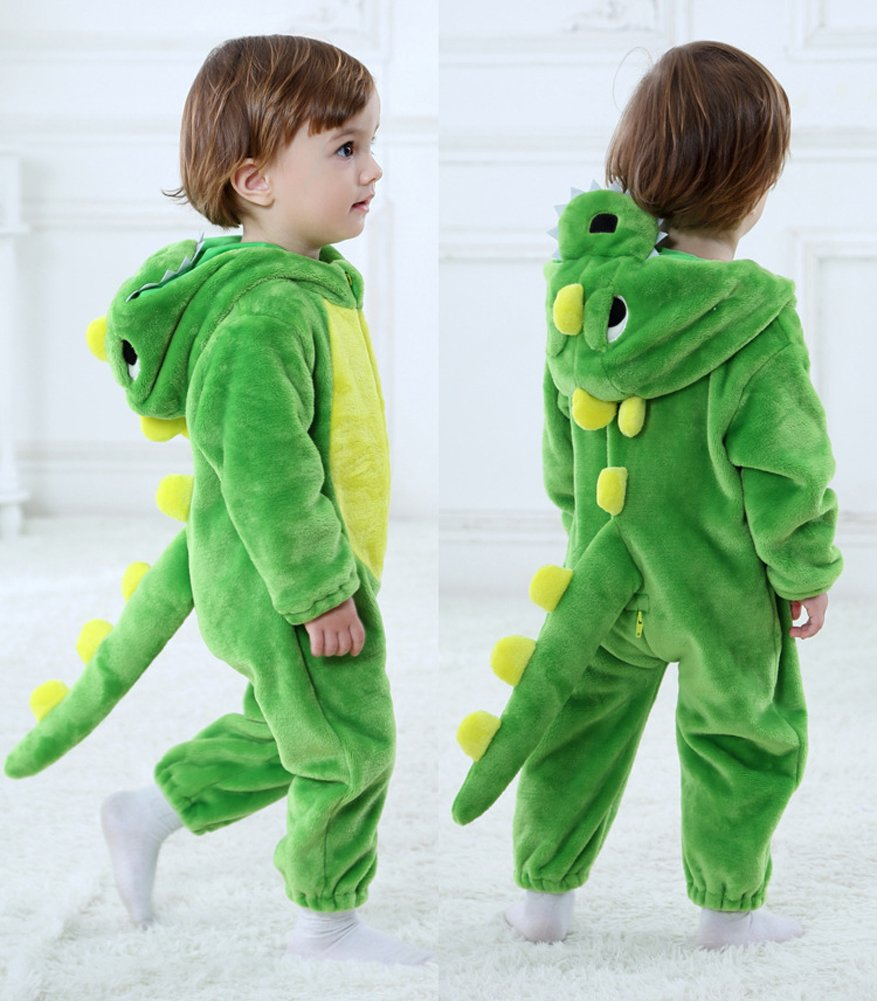 Tonwhar Toddler Infant Tiger Dinosaur Animal Fancy Dress Costume (100(Height:31''-35''/Ages 18-24 Months), Green) by Tonwhar (Image #5)