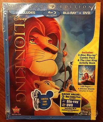 Amazon Com The Lion King Diamond Edition Exclusive Blu Ray Dvd Combo Pack The Lion King Activity Book Gift Set Movies Tv