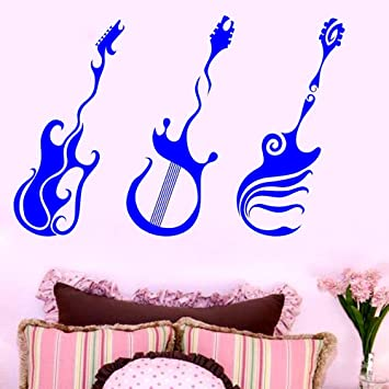 Guitarra clásica Tatuajes de pared Vinilo Decoración de la sala de ...
