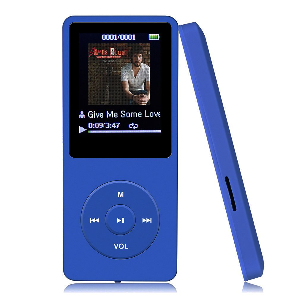 Amazon: Agptek A02 8gb And 70 Hours Playback Mp3 Player, 32gb, Dark  Blue: Home Audio & Theater