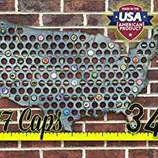 Stained Bottle Cap Map Collector