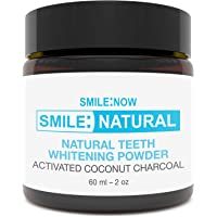 Teeth Whitening Powder - Made in The UK - Activated Charcoal Teeth Whitening Toothpaste - 100% Natural Coconut, Vegan, Non Peroxide, Black Tooth Polish