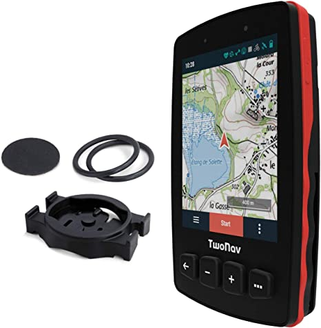 TwoNav - GPS Trail 2 Bike - Bicicleta Cicloturismo MTB / 4 Botones Frontales/Pantalla 3.7