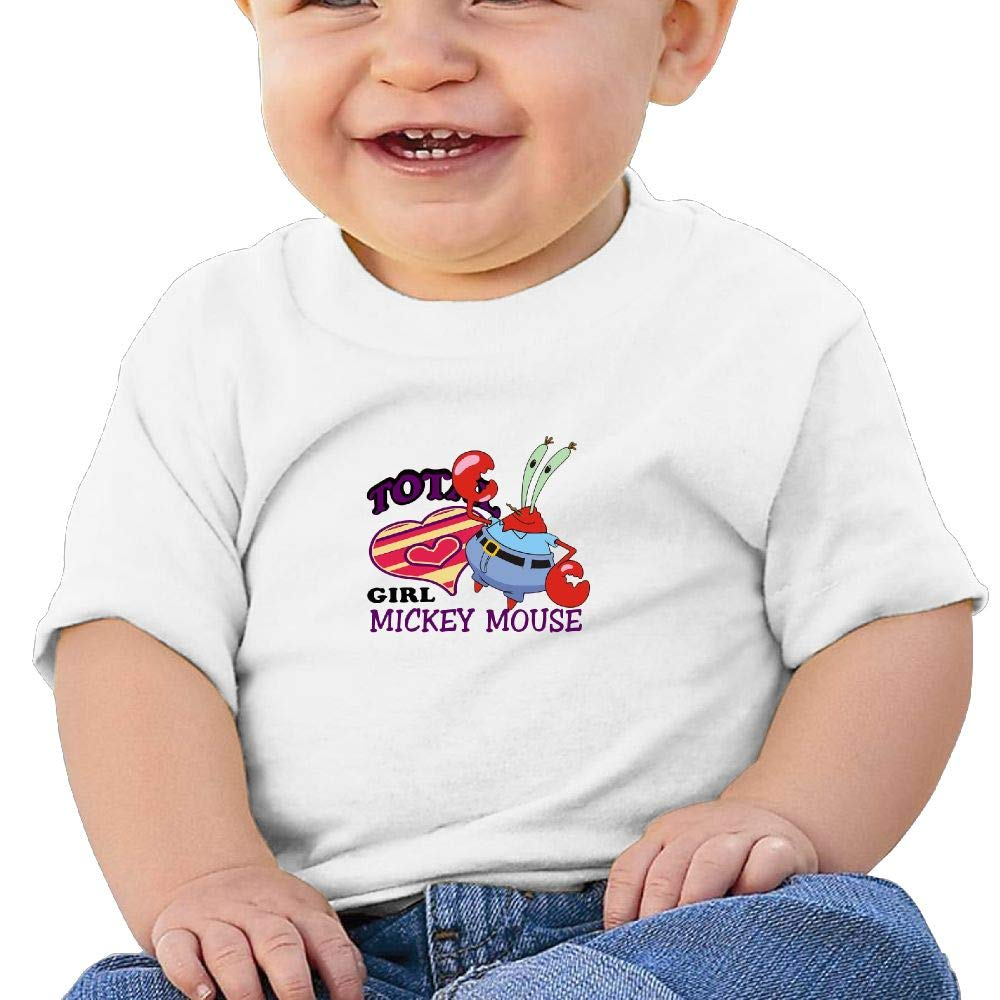 BuecoutesCartoon Crab Toddler//Infant Short Sleeve Cotton T Shirts White