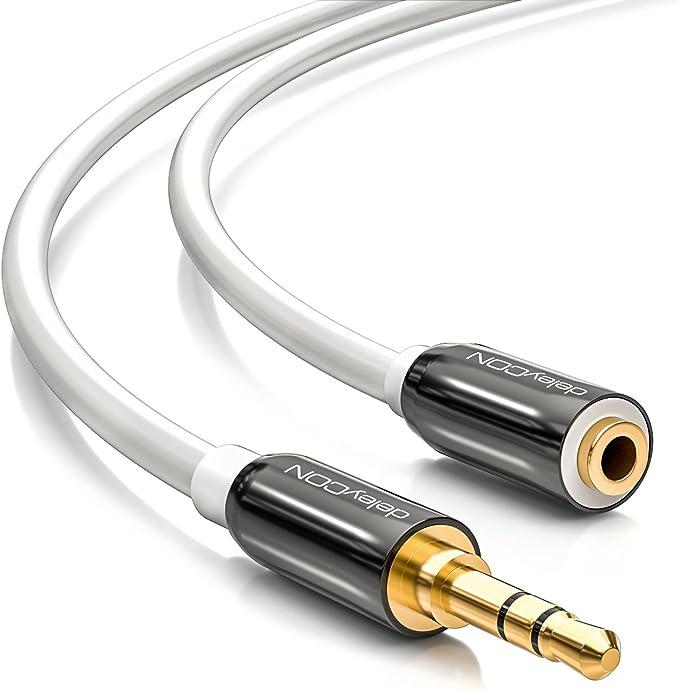 Deleycon 2m Stereo Audio Klinken Verlängerungskabel Elektronik
