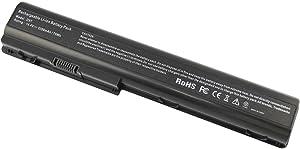 New Laptop Battery fits HP HDX18 HDX18t HP Pavilion dv7t dv7z dv8 HSTNN-OB75 HSTNN-OB74 HSTNN-IB74 HSTNN-IB75 464059-3XX 464059-141 KS525AA, HP Pavilion dv7-. Series - 8 Cells 14.4V 5200mAh