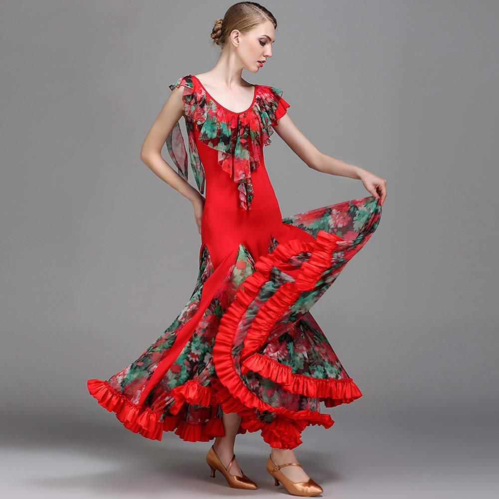 JRYYUE Ballsaal Tanz Kleid Flamenco Walzer Tango Tango Tango TanzkostüMe für Frauen Moderner Tanzrock Große Schaukeln Adult Performance Wear XXL B07PL9JWLS Bekleidung Gute Qualität 809e6a