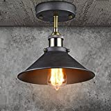 Kitchen Lighting Over Sink YOBO Lighting Vintage Industrial Semi Flushmount Mini Ceiling Light