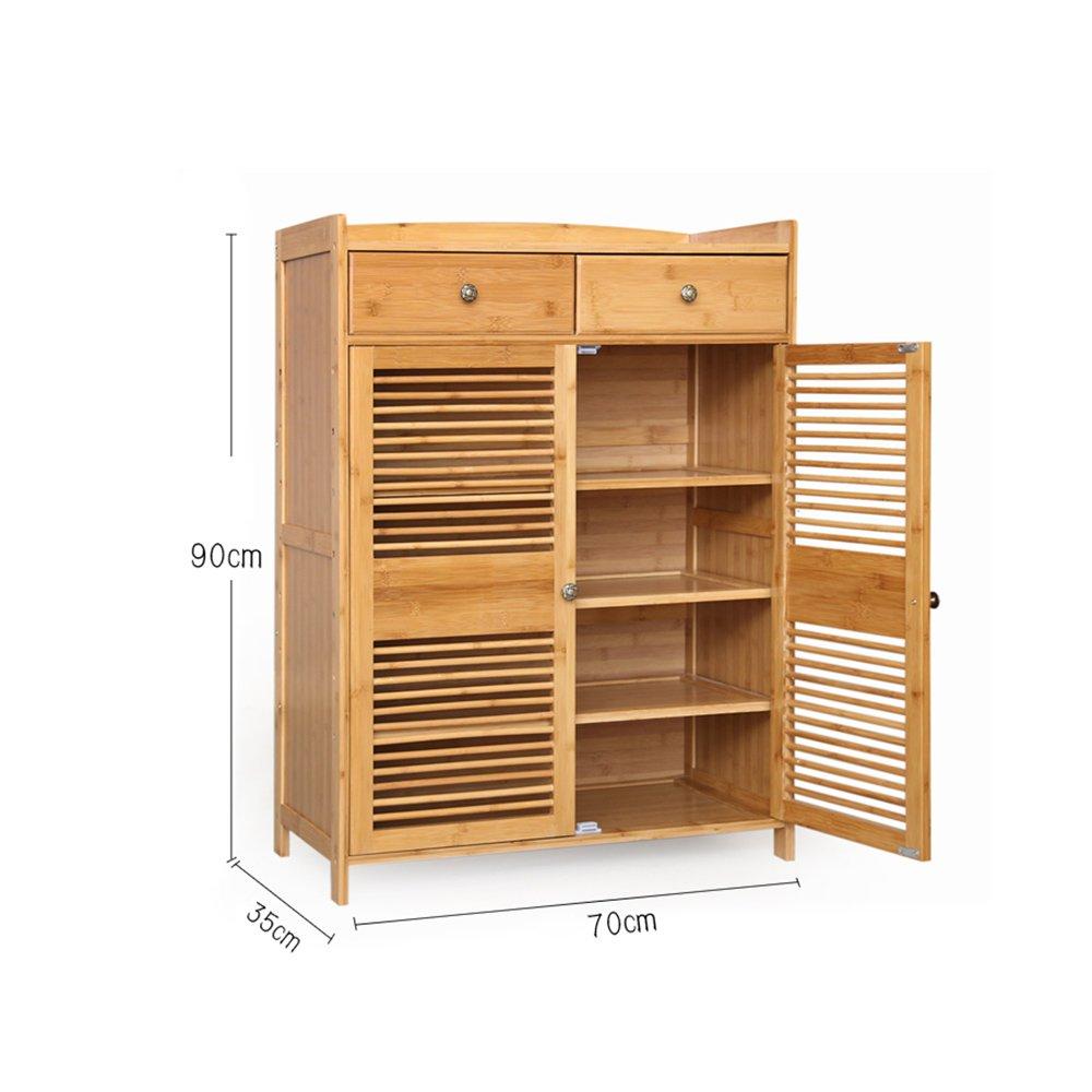 Amazon Com Shoe Racks Ynn Bamboo Solid Wood Shoe Cabinet 3 4 Tier