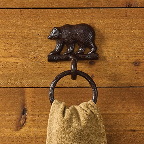 Park Designs Rustic Cast Bear Towel Ring Lodge Decor