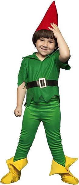 Disfraz de Duendecillo Verde Infantil (5-6 años): Amazon.es: Ropa ...