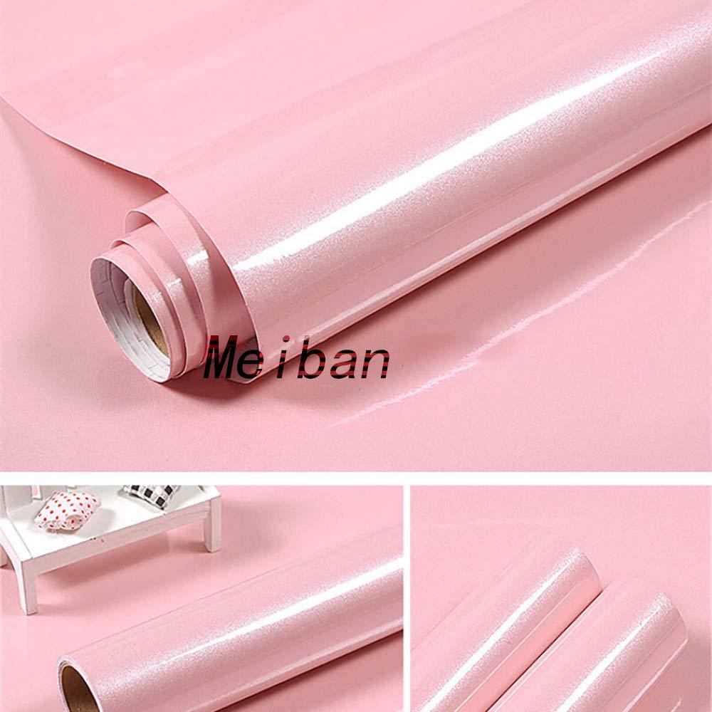 Meiban argent en bois blanc grain de contact papier auto-adhésif Papier Peint Peel Stick