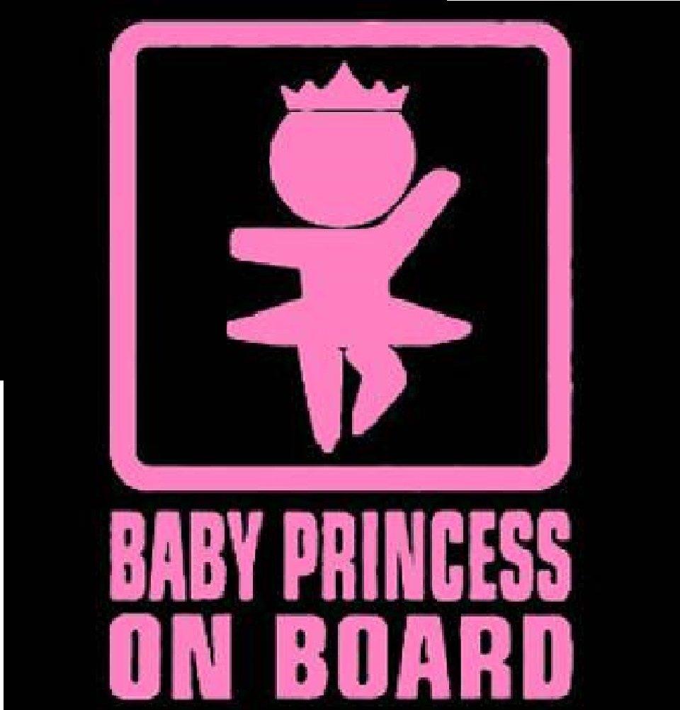 LeSo © Baby Princess on Board Rosa Car Sticker Auto Aufkleber S027