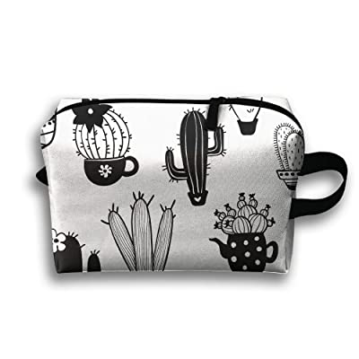 Cacti Cactus Pattern Travel Bag Toiletries Bag Phone Coin Purse Cosmetic Pouch Pencil Case Tote Multifunction Organizer Storage Bag