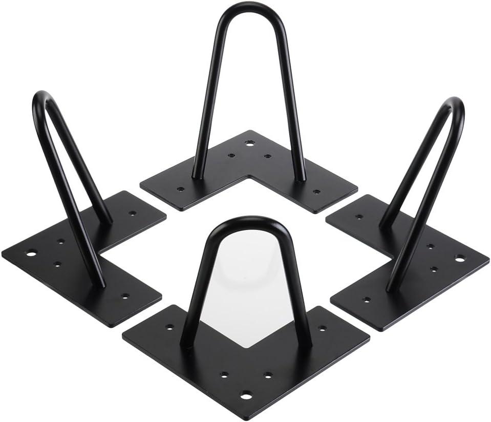 Rauken - Patas para mesa (15 cm, 4 unidades), color negro