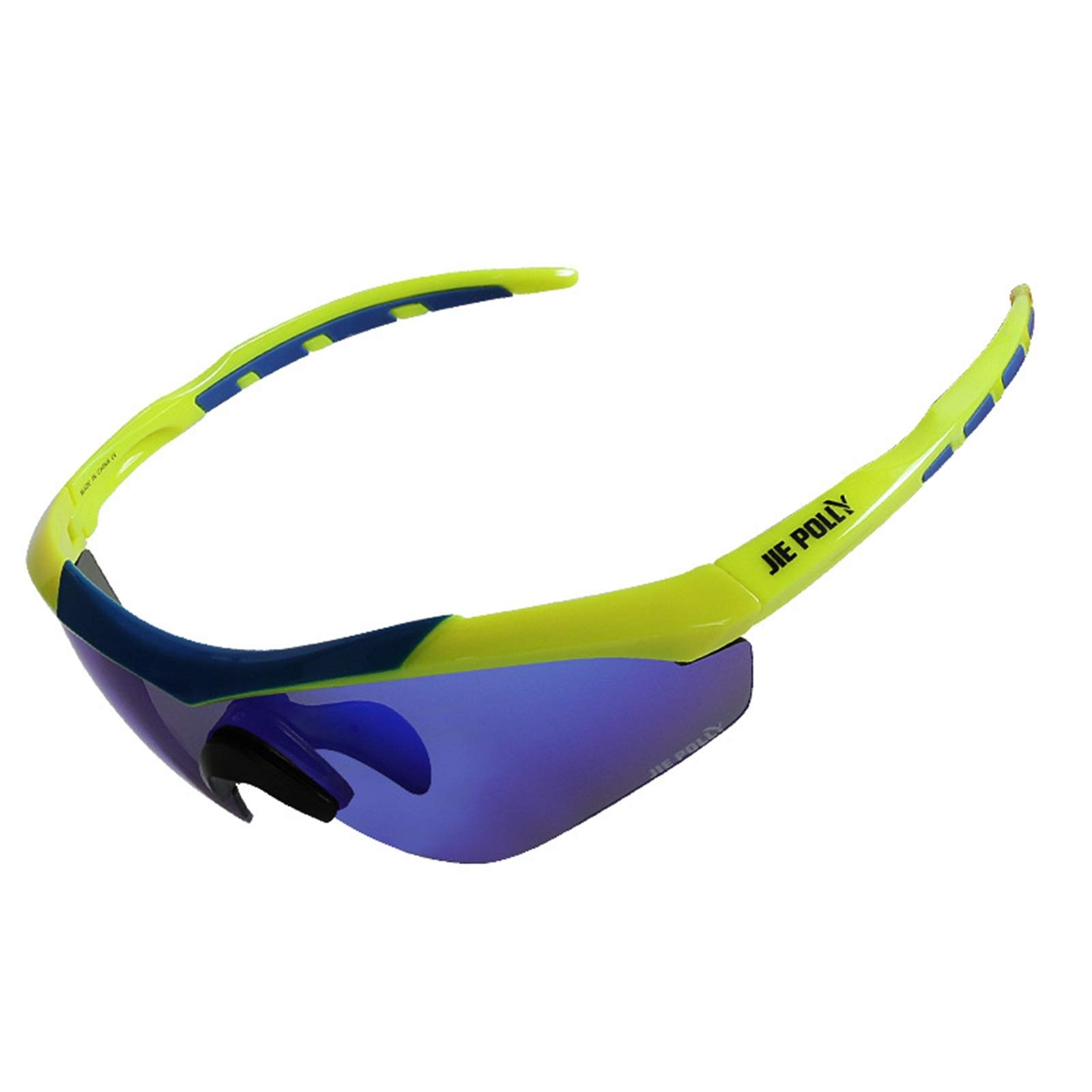 Adisaer Cycling Sunglasses Tactical Goggles Windshield Anti-Shock Bulletproof Glasses Blue Yellow for Adults