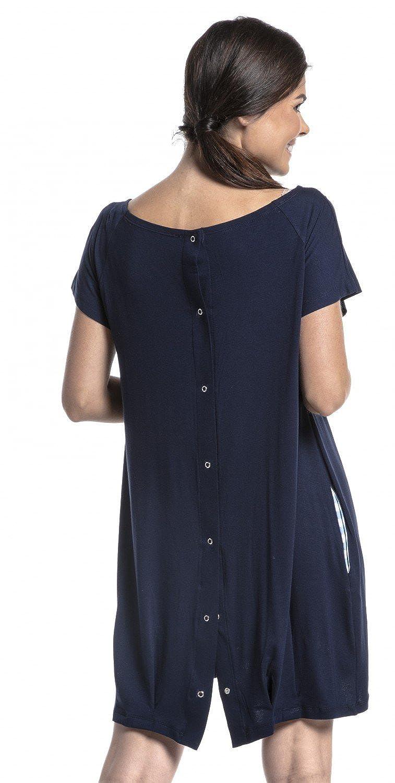 Zeta Ville - Womens Maternity Nursing 3in1 Gown Labor Delivery Childbirth - 097c multi_nightdress_097