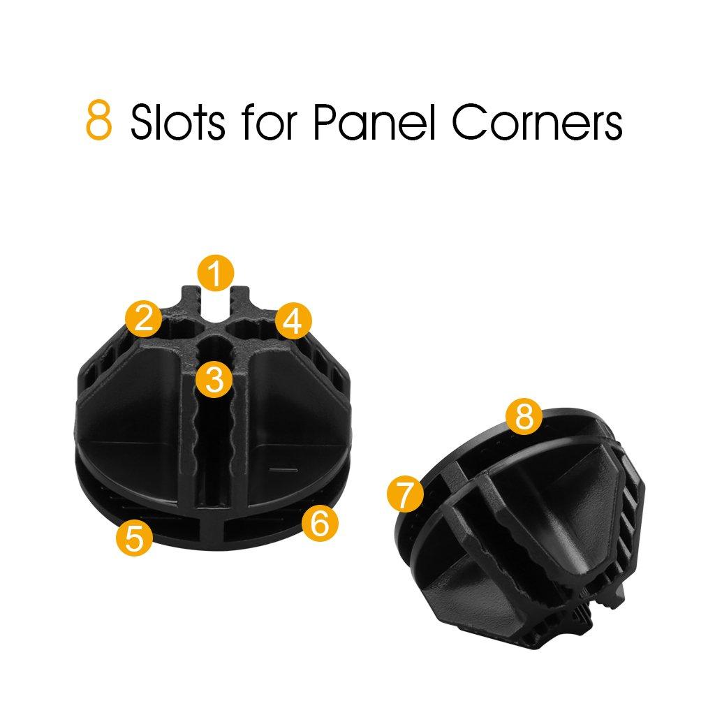 LANGRIA Wire Cube Plastic Connectors for Modular Organizer Closet ...