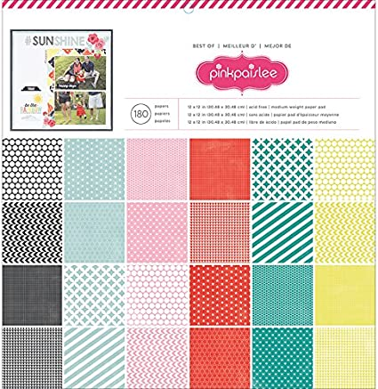 12x12-Inch 180-Pack Best of Pebbles American Crafts Pebbles Paper Pad