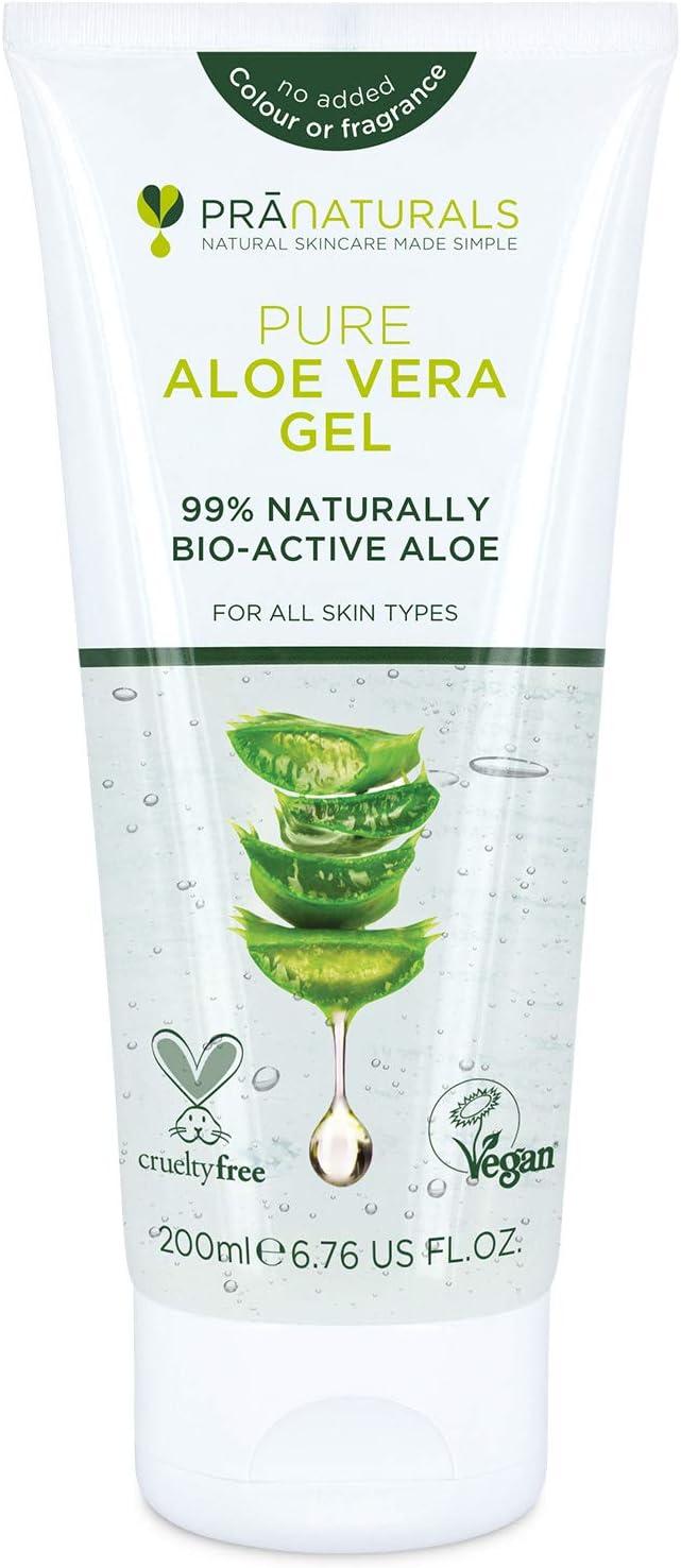 Pranaturals aloe vera gel 200 ml, gel lenitivo e idratante nutriente