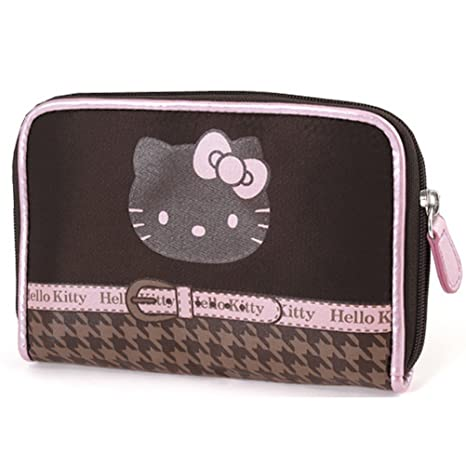 Hello Kitty Chocolate Houndstooth Cartera Por Camomilla