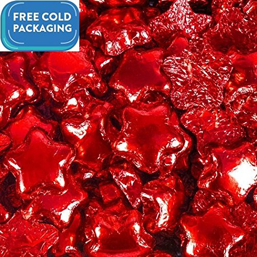 Milk Chocolate Stars - Red Foil Wrapped - Madelaine Quali...
