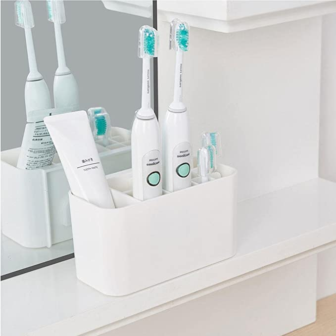 Amazon.com: KOBWA Electric Toothbrush Holder, Easy-Store Toothbrush Caddy,Wall Mounted Toothbrush Stand: Home & Kitchen