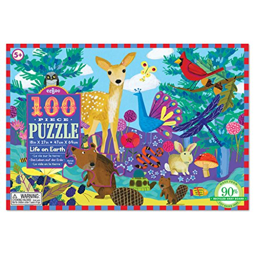 eeBoo Life on Earth Puzzle, 100 pieces