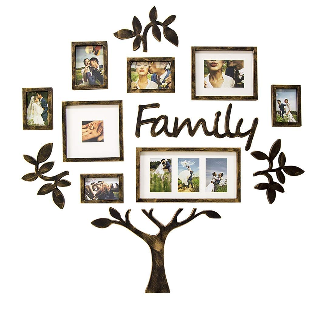 Xihouxian Personalized Family Photo Wall Decoration/Photo Wall Creative Tree Frame/Photo Frame Overall Size is 116.7 119CM D10