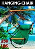 New Hammock Hanging Chair Air Sky Swing Outdoor Chair Solid Wood 250lbs (Blue) Review