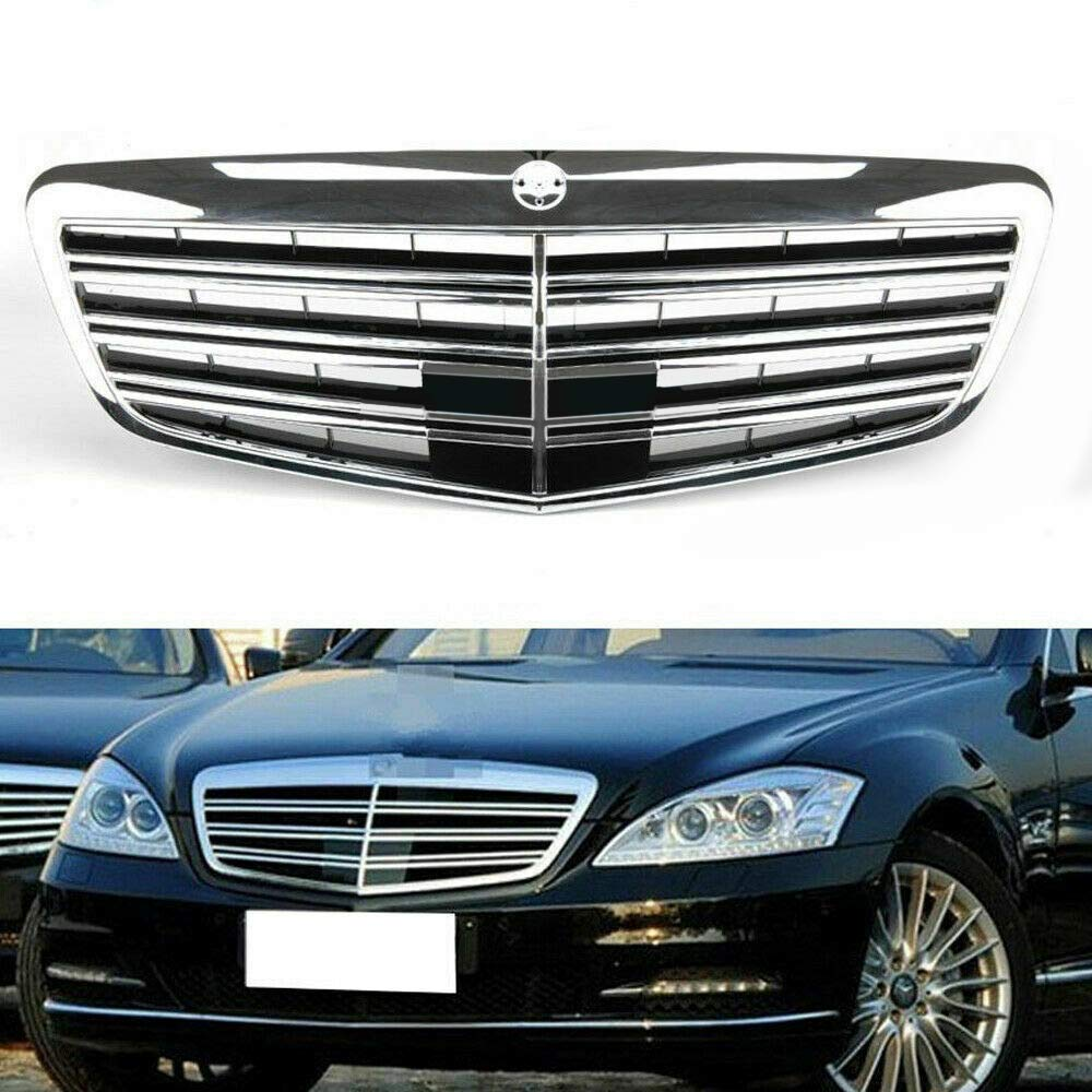 Chrome Front Upper Grill Grille for Mercedes Benz MB S Class S550 S600 S350 W221 2007-2013