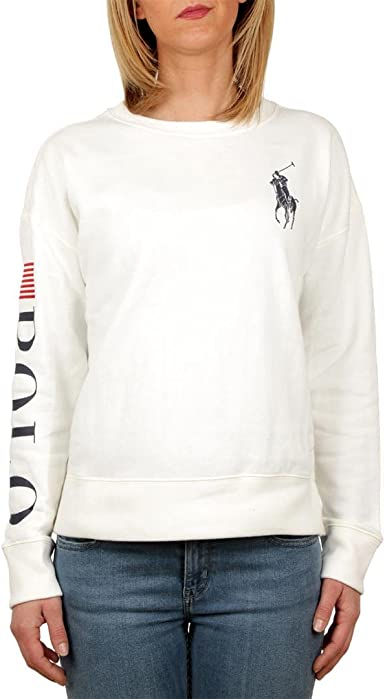 Polo Ralph Lauren GRPHC CN FLC-NO FIT-Long Sleeve-Knit ...