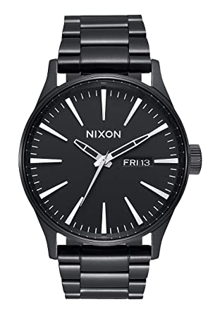 8c36edf00ca Nixon Sentry SS All Black Classic Men s Watch (42mm. Black Face Black  Stainless