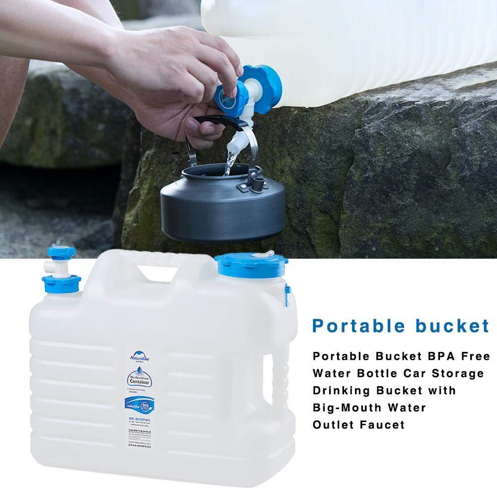 Szseven Cubo De Agua Plegable Botella De Agua Gratis Almacenamiento para El Autom/óvil Cubo para Beber con Un Recipiente Plegable Cubo Port/átil BPA para Caminatas con Refrigerador para Acampar