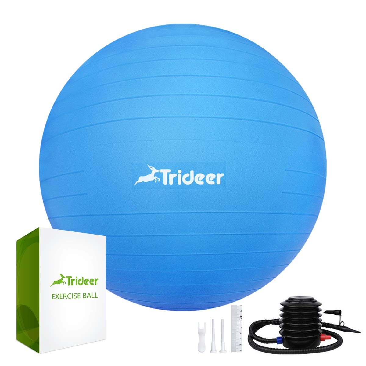 Trideer Exercise Ball (45-85cm) Extra Thick Yoga Ball Chair, Anti-Burst Heavy Duty Stability Ball Supports 2200lbs, Birthing Ball with Quick Pump (Office & Home & Gym) by Trideer