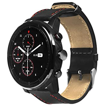 Bainuojia For XIAOMI HUAMI Amazfit Stratos Smart Watch 2/2S Mode Sport Bracelet en Cuir