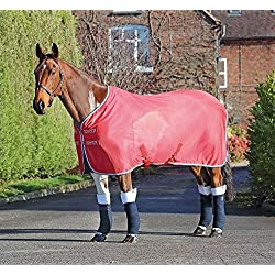 Shires Tempest Original Fleece/Mesh Cooler Rug-Royal/Pink/Grey Size: 6ft9