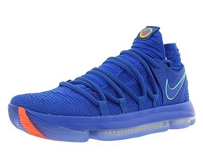 huge selection of d1d2c 77935 Amazon.com   Nike Men s Zoom KD 10 Basketball Shoe (10 D(M) US, Racer Blue  Light Menta Black)   Basketball