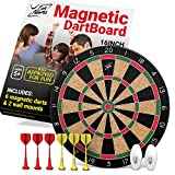 Fun Adams Magnetic Dartboard 16 inch with Safe Precision Darts, Best Gift for Boys & Girls, Great Classic Game the Whole Family can Enjoy - Play in Teams or Solo, Simple & Easy to Install