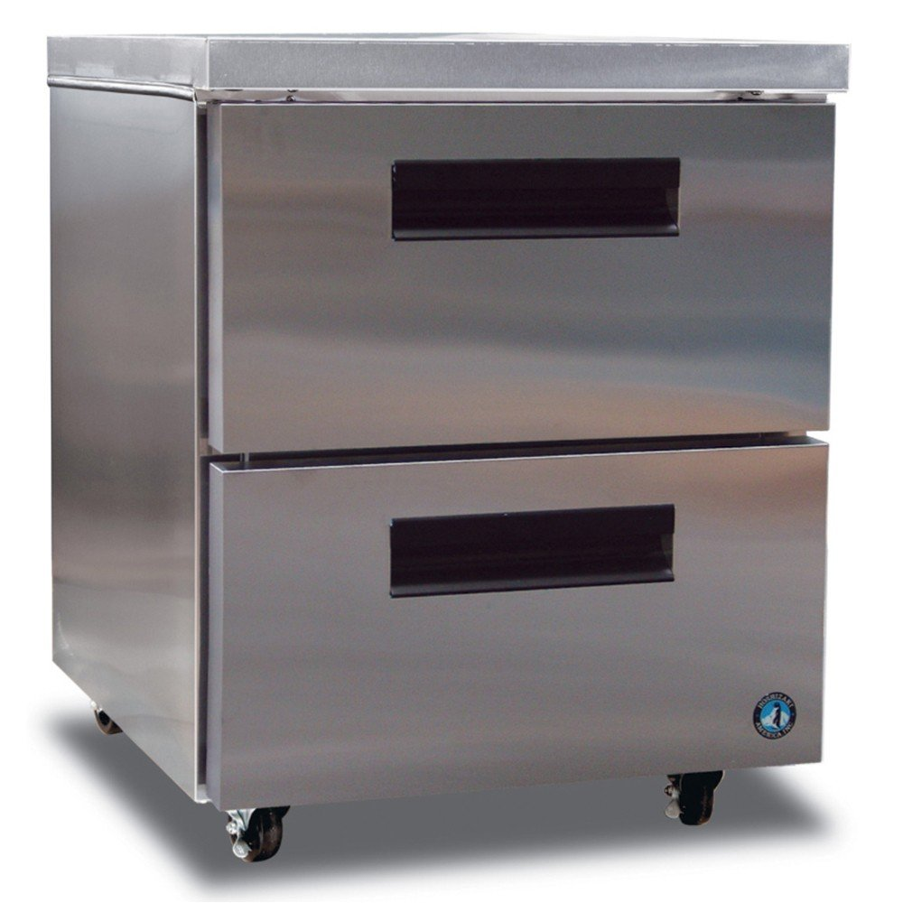 Hoshizaki CRMR27-D 27'' Commercial Series Undercounter Refrigerator with 2 Stainless Steel Drawers 7.2 cu. ft. Capacity Anodized Aluminum Interior 16 Gauge Stainless Steel Drawer Slid by Hoshizaki