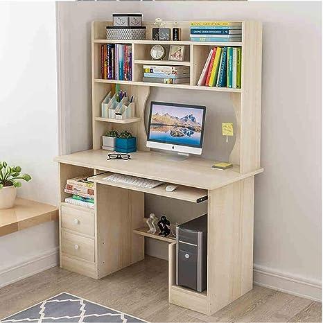 Librerías Mesa de Escritorio Combinación de estantería Computadora ...