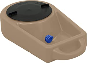 Dakota 283 Dine N Dash Large On-the-Go Travel Pet Feeding and Watering System with 8-Inch Twist Lid, Coyote Tan