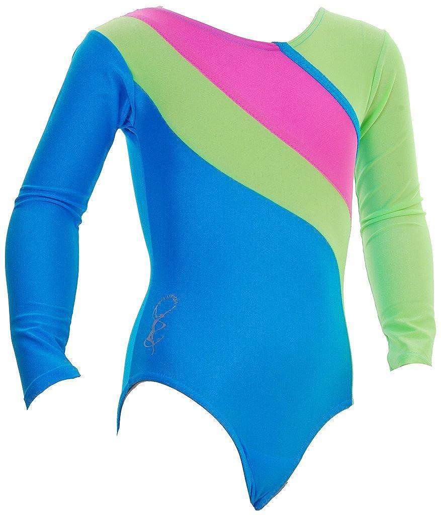 1ae00b5aee9b Olympique - Algarve Long Sleeve Gymnastic Gym Leotard Shiny Flo ...